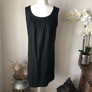 Tweeds Linen Black Tank Dress